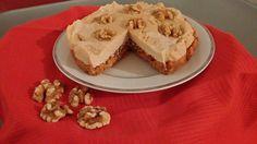Wortel/walnoten taart
