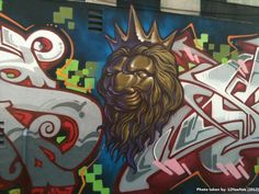 Lion Graffiti on Lyon Street in San Francisco, CA (05/10/12)