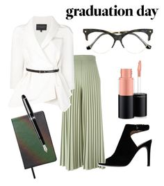 Graduate with Style by stefania-fornoni on Polyvore featuring polyvore, fashion, style, Carolina Herrera, Givenchy, Tory Burch, Balenciaga, MAC Cosmetics, The Unseen, Fountain, clothing and graduationdaydress