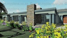 4 Bedroom House Plan – My Building Plans South Africa Four Bedroom House Plans, Two Story House Plans, Family House Plans, Small House Plans, House Floor Plans, My Building, Building Plans, Bedroom Wall Units, Single Storey House Plans