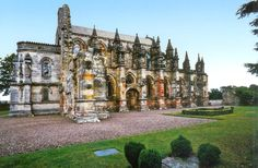 Roslyn Chapel, Scotland. I want to see this in person! One of the oldest chapels in the world.