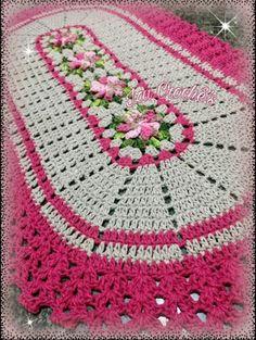 Blanket, Crochet, Crochet Carpet, Simple Flowers, Oval Rugs, Kitchen Playsets, Tutorial Crochet, Table Toppers, Cute