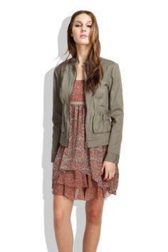 cotton bomber jacket.