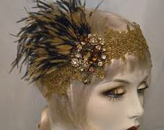 gold feather headpiece - Google Search
