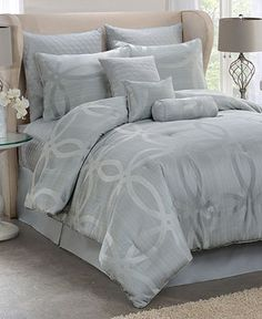 Circle 10 Piece Queen Comforter Set - Bed in a Bag - Bed & Bath - Macy's
