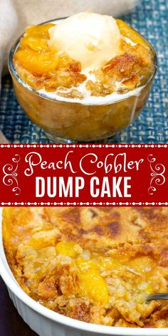 Peach Cobbler Dump Cake, also known as Peach Dump Cake or Peach Cobbler With Cake Mix, is an easy homemade Peach Cobbler made with only 3 ingredients, yet is sweet and luscious and perfect for a summer bbq or picnic. Southern Peach Cobbler, Peach Cobbler Cake, Homemade Peach Cobbler, Fruit Cobbler, Dump Cake Peach, Recipe For Peach Cobbler Made With Cake Mix, Dump Cake Pineapple, Apple Dump Cakes, Dessert Simple