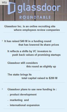 Stakes bring #GlassdoorInc's total #capital raised to $200M #salary #jobsearch #reviews #vc http://arzillion.com/S/2dn8Wq
