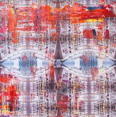 "Painted photograph:  ""The eye"" -  from series Metropolitan Aura by Tobias Schreiber  Size 155 cm x 152 cm   Fotografie l New York l Art l Artist l Kunst l Künstler l Painting"