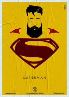 Wiskow • Amor Bandido • Pôster Série Super-Heróis Barbudos #superman #hq #quadrinhos #design #posters