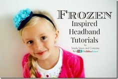 """Fabric Bows and More: """"Frozen"""" Inspired Headbands by Simple Simon Compan..."""