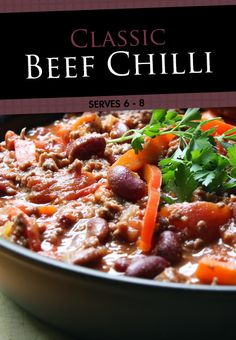Enjoy Anna Olson's warm and hearty classic chili recipe. Perfect for a cool winter day!