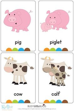 """Our """"On the Farm Flash Cards"""" are a great learning tool for your children to learn about everything on the farm.  You will receive 32 printable flash cards, all with bright, colourful, high quality images ready to print and play!"""