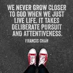 We never grow closer