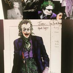 Original concept designs from Nolan's Joker! Jonny Rotten was the inspiration. #batman #chrisnolan #joker
