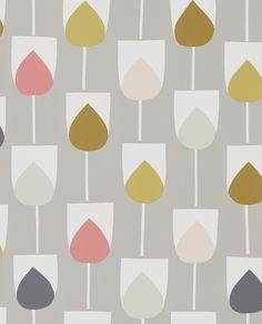 Sula Flamingo, Honey and Linen wallpaper by Scion