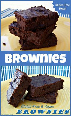 The most amazing brownies!!! Vegan and Gluten-Free but you can't tell they taste so good. They have a secret ingredient that you'd never guess!