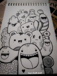 Easy Doodles Drawings, Cute Easy Drawings, Cool Art Drawings, Art Drawings Sketches, Sharpie Drawings, Cute Doodle Art, Doodle Art Designs, Doodle Art Drawing, Doodle Art Letters