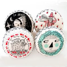 YOUR KIDS NEED ONE OF THESE!! :-[) Roxy Marj Pancake cushions  4 styles by romawinkel on Etsy, $48.00