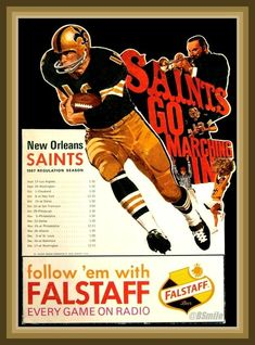 1967 was the New Orleans Saints' inaugural season in the old NFL. Starting in the Capital Division, the team had an impressive 5-1 pre-season record with a lot of promise.  However, the Saints would only manage wins against Philadelphia, Atlanta and Washington ending up with a 3-11 record.
