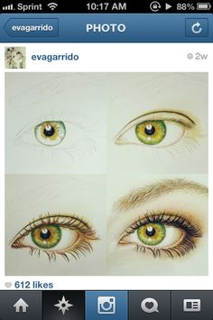 i love this drawing scheme of how to draw an eye, to make it look even more realistic it would be useful to add a little white around the irus:)