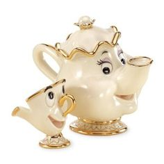 A REAL Mrs. Potts and Chip porcelain tea set? I need this!