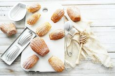 the author says this is the best madeleine recipe they have ever made. Twigg studios, madeleines, authentic french recipe from laduree French Dishes, French Desserts, French Food, Just Desserts, French Recipes, Gourmet Desserts, Plated Desserts, Pastry Recipes, Cookie Recipes