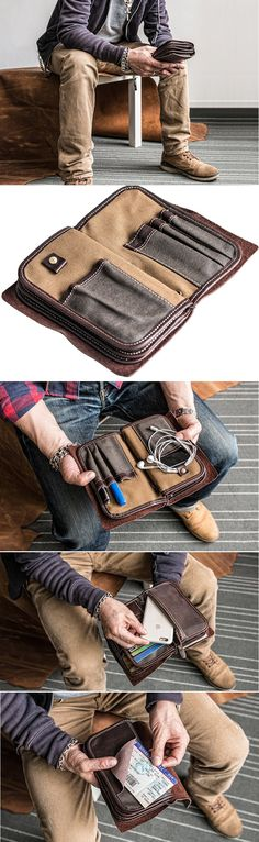 Muzzle Rhinoceros Horn Meal Leather Passport Holder Cover Case Travel One Pocket