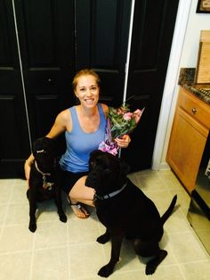 K9sOverCoffee | Birthday flowers for Mommy from the pups!