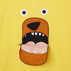 £35 TOOTSA MACGINTY Bear zip nose sweatshirt 2-8 years