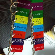 offset printing key ring plastic cards