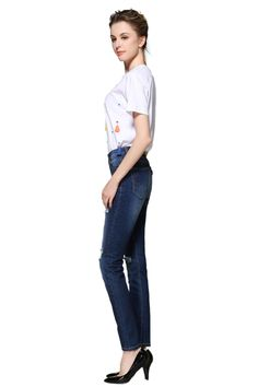 a2d36904de790 ZLZ Butt Lift Skinny Jeans Womens Casual Destroyed Ripped Distressed Stretch  Jeans Legging. US 8W28