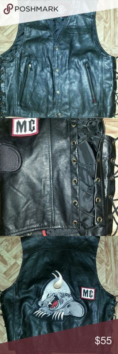 Selling this Retro Leather Vest on Poshmark! My username is: iamsydiabd. #shopmycloset #poshmark #fashion #shopping #style #forsale #Milwaukee Motor Cycle Clothing Co #Other