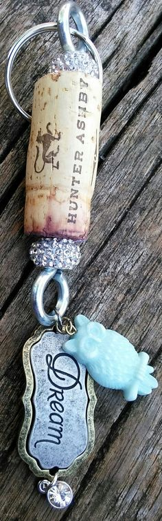 Wine Corks - Sparkling Wine Cork Keychain by DixieShimmer on Etsy