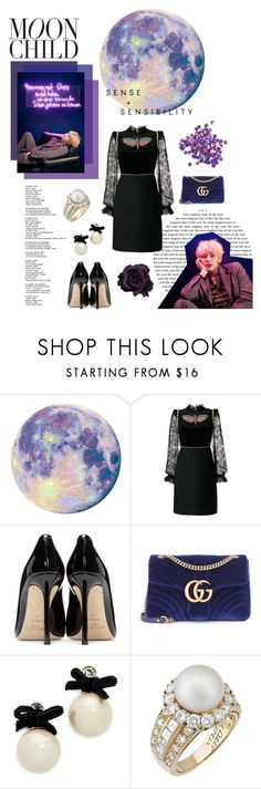 """""""4 o'clock"""" by alva01 ❤ liked on Polyvore featuring Gucci, Jimmy Choo, Kate Spade and Van Cleef & Arpels"""