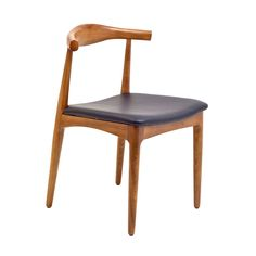 This chair lends a modern Danish sensibility to any space. Inspired by mid-century modern design, this chair features a curved back and elegant rounded legs. The dining chair will immediately add a unique feel to your home d̩ecor.