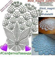 i.pinimg.com Crochet Doily Diagram, Crochet Doily Patterns, Crochet Mandala, Crochet Chart, Thread Crochet, Filet Crochet, Crochet Motif, Crochet Designs, Crochet Stitches