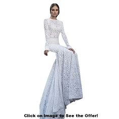 Etosell Women's Mermaid Lace Formal Wedding Bridal Dress Brand New and High Quality Occasion: Gown/Wedding/Evening/Formal/Party/Cocktail/Prom Special Dresses, 15 Dresses, Dresses For Sale, Bridal Dresses, Wedding Dress Body Type, Perfect Wedding Dress, 1920s Dress, Formal Wedding, Wedding 2015