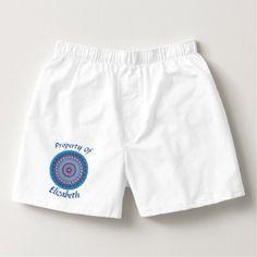 Property Of Men's Cotton Boxers Valentine's Day - gift for him present idea cyo design