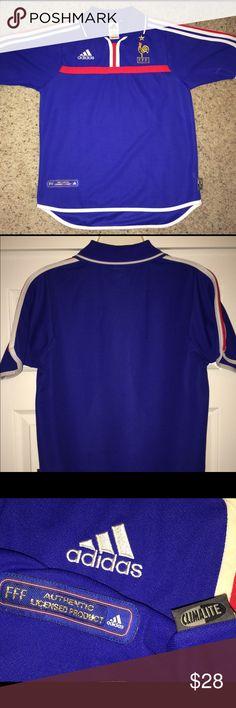 c1b509b62f5 2000 Adidas FRANCE Soccer Jersey ➡️Vintage 2000 FRANCE soccer jersey...size  men s