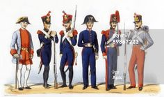 Photo d'actualité : Uniforms of french army Military Crafstmen 1819th...