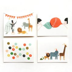 Birthday Card 8 Pack by Anna Bond. i am in love with the top left one