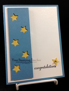 Congratulations Card Using Merry Mini Punch Pack - Your Stamping Teacher