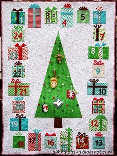 Hoi! Ik heb een geweldige listing gevonden op Etsy https://www.etsy.com/nl/listing/238410683/advent-calendar-quilt-pattern