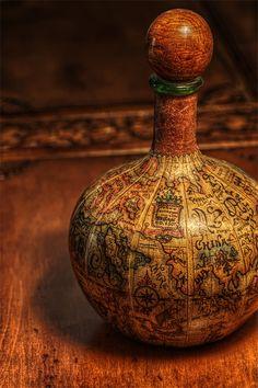Antique map bottle ~