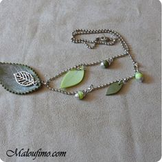 Leaves necklace tutorial:  The necklace it's very simple but there's a nice technique to make leaves from real ones