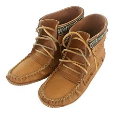 Women's Moosehide Leather Moccasin Boots - All Natural - Soft Sole BB37597