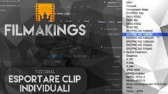 Esportare clip individuali su Adobe Premiere Pro