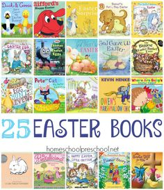 Hippity! Hoppity! Easter's on it's way! Get your preschoolers excited with this list of Easter books - both religious and not. There's something for everyone here. | homeschoolpreschool.net