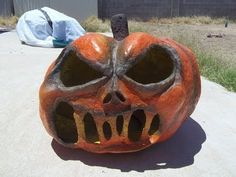 Painting and final seal -- Part 8 of 8 - Paper Mache Pumpkin Head How-to - YouTube