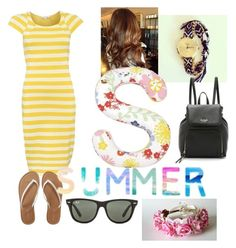 """""""Summer"""" by smefford on Polyvore featuring Patrizia Pepe, PBteen, Aéropostale, Ray-Ban, Kate Spade, women's clothing, women, female, woman and misses"""